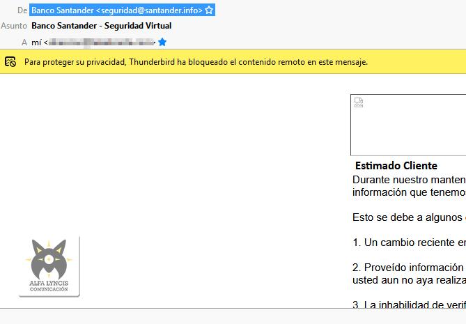 Banco Santander - Seguridad Virtual , para robar tus datos